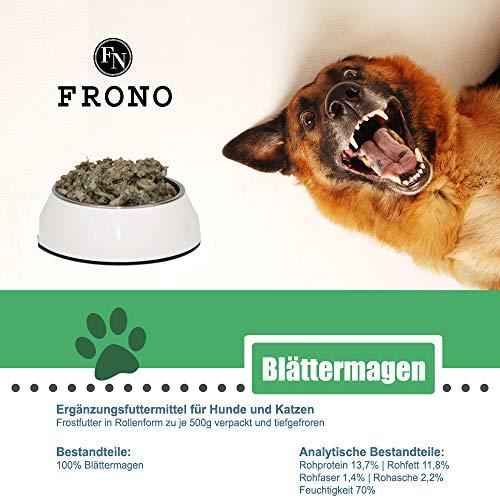 Frostfutter Nordloh Barfpaket: 10kg Blättermagen für Hunde, die Basis für Das Hundemenü