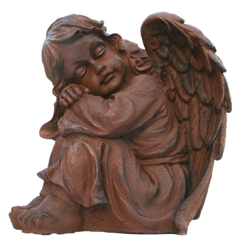 colourliving Dekofigur Engelmädchen Asiela Engel Dekoration Engelfigur rostoptik Gartendeko