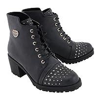 Milwaukee Performance Women's Rocker Boot (Distresed Black, 7),