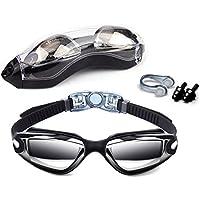 Schwimmen Brillen, Vdealen Schwimmbrille Anti-Fog UV-Schutz beschichteter Linse kein Auslaufen mit Nase Clip, Ohrstöpsel, Fall für Männer Frauen Erwachsene Youth Kinder