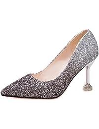 YR-R Zapatos De Mujer Corte De Lentejuelas Zapatos De Boda Zapatos De Mujer  Sexy Zapatos De Fiesta De Temperamento De Tacón Alto… 9437e2cf74aa