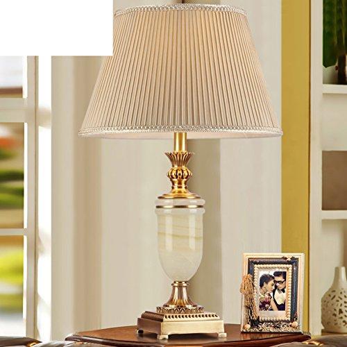 Voll-messing Lampe/Schlafzimmer Bett Lampe/American-style Tischleuchten/Retro,Chinesische Art,Ländlichen,Lichter/Europäischen Stil Wohnzimmer Tischleuchte-A - Schlafzimmer Messing Bett
