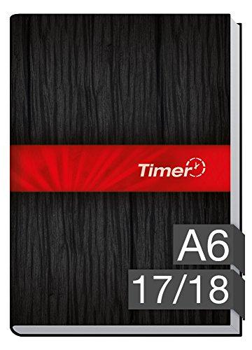 Chäff-Timer mini A6 Kalender 2017/2018 [schwarz-rot] 18 Monate Juli 2017-Dezember 2018 - Terminkalender mit Wochenplaner - Organizer - Wochenkalender