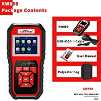 ‏‪KKmoon OBDII Scanner Code Reader (KW850) Professional OBDII Anto Scanner Car Diagnostic Check Engine Light Scan Tool for All OBDII Cars Since1996‬‏