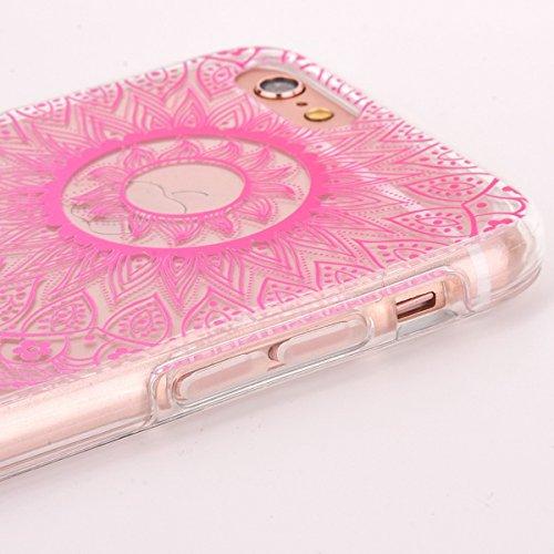iPhone 6S Plus Silicone Case,iPhone 6S Plus Coque - Felfy Coque Souple Transparente TPU Silicone cadre et Plastic Back Case Premium Ultra-Light Ultra-Mince Skin de Protection Anti-Choc Bumper pour App Tournesol