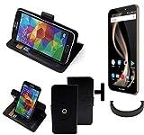 K-S-Trade® Hülle Schutzhülle Case Für -Allview X4 Soul Infinity Z- + Bumper Handyhülle Flipcase Smartphone Cover Handy Schutz Tasche Walletcase Schwarz (1x)