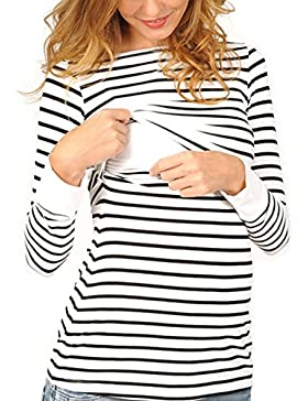 Vin beauty Mamá Camiseta de enfermería Maternidad Lactancia materna Manga larga Sudaderas