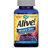 Nature's Way - Alive! Hommes 50 + Gummy Multivitamines Fruit 75 Gummies