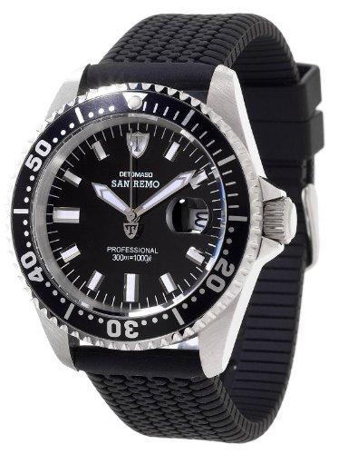 Detomaso DT1025-I - Reloj para hombres, correa de silicona color negro