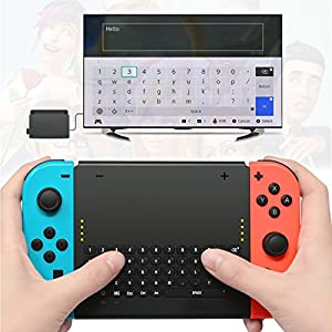Nintendo Switch Zubehör, The Perseids Wireless Keyboard für Nintendo Switch Spiele (MEHRWEG)
