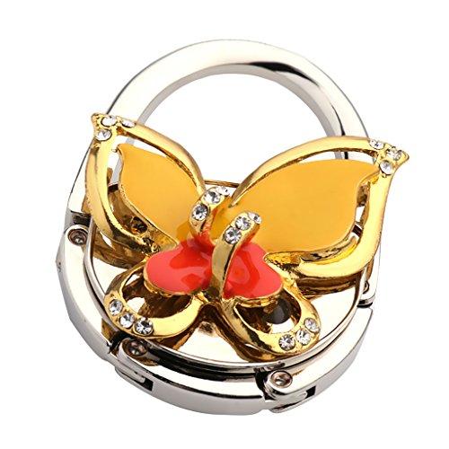 Tavolo pieghevole borsa borsa gancio Hanger Holder 3d farfalla arancione