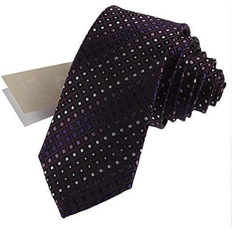CID-041 a scacchi Miglior Skinny Cravatta economici sottile cravatta da Y&G