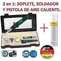 SOLDADOR A GAS PROFESIONAL RECARGABLE 3/1 SOLDAR, SOPLETE, AIRE CALIENTE NUEVO A