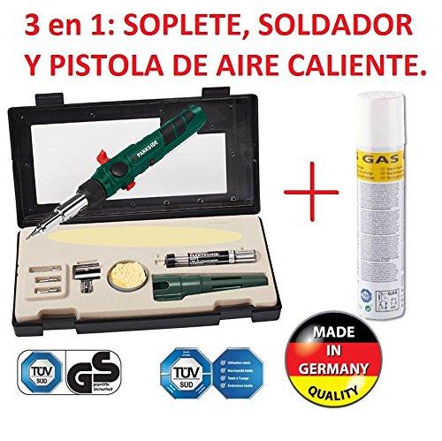 SOLDADOR A GAS PROFESIONAL RECARGABLE 3/1 SOLDAR, SOPLETE, AIRE CALIENTE NUEVO A...
