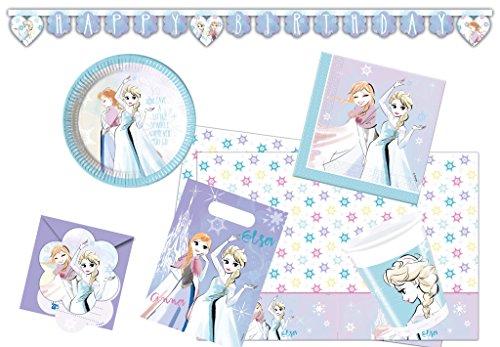 Procos 10118247 Partyset Frozen Sparkle (Party Olaf Supplies Frozen)
