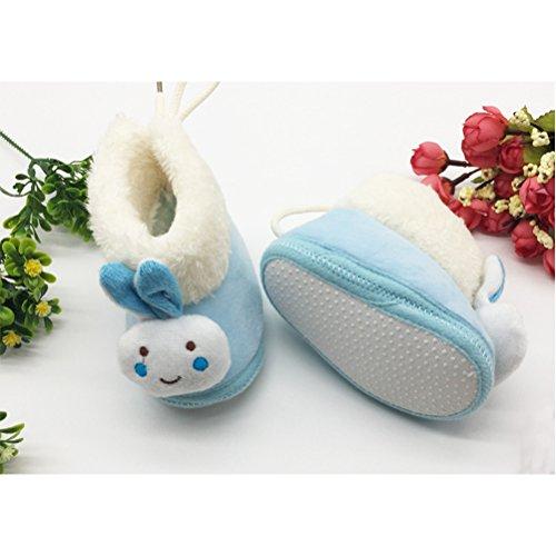 Zhuhaitf Excellent Lovely Infant Girls Soft Shoes Baby Winter Warm Plush Cotton Boot xsx010 blue