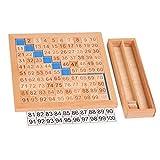 F Fityle Montessori Mathematik Nummern 1-100 Zahlenkarten Brett Puzzles