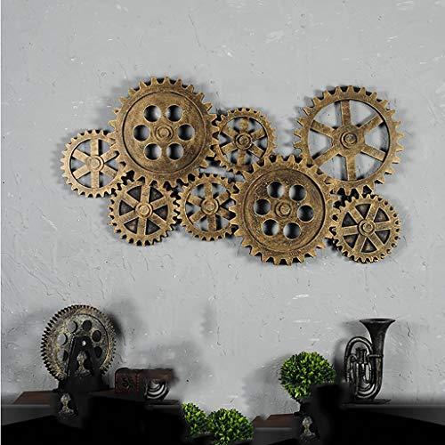JXJJD Attic Wall decoration Retro Industrial Wind Wall decoration living room Bar decoration cafe Restaurant Creative 3 Colors (Color: A)