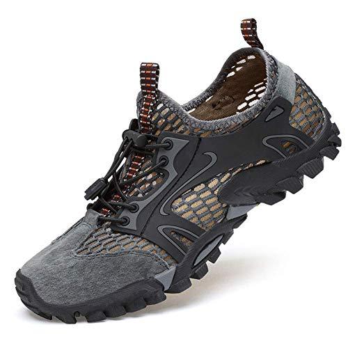 Elitemill Zapatos de Trabajo, 1 Par Resistente Zapatillas Seguridad Transpirable Antideslizante Resistente a los Pinchazos para Hombre - Gris, 41 EU