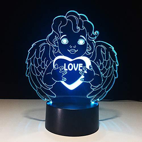 orangeww 3DLampe LED Nachtnachtlicht Schädel Lampe 7 Farbwechsel Atmosphäre Pirate Schreibtischlampe Kinder schlaf Licht Geschenk Kinder Männliche Freundin Kollege Weihnachtsgeschenk Decor Lampe