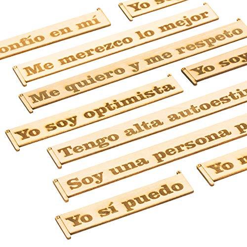 Pegatinas Decorativas Frases Motivadoras en Madera
