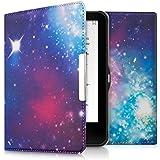 kwmobile Hülle für Tolino Vision 1 / 2 / 3 / 4 HD - Flipcover Case eReader Schutzhülle - Bookstyle Klapphülle Space Design Mehrfarbig Pink Schwarz