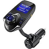 Transmisor FM Bluetooth In-Car Transmisor FM Radio Adaptador Kit de coche con cargador de coche USB Entrada AUX 1.44 pulgadas de pantalla LCD TF ranura para tarjetas