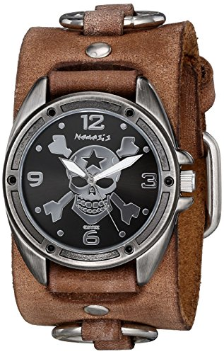 Nemesis 906BFRB-KK - Reloj de pulsera hombre, piel, color Marrón