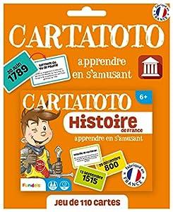 Fundels Cartatoto-Historia de France-Juego de Cartas Educativo