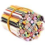 Fashion Galerie 50 Fimo Stäbe Kuchen Mix DIY Dekoration Sticker für 3D Nageldesign