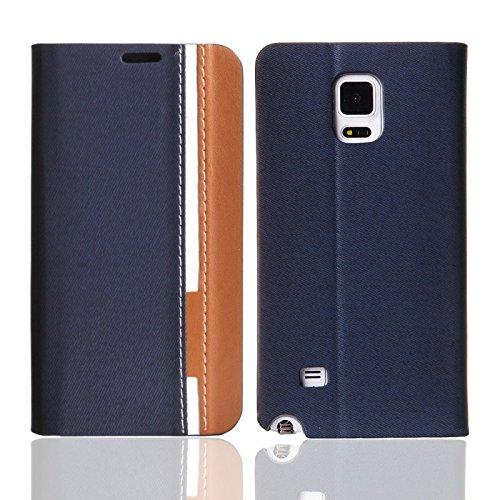 Handy-Hülle Schutz-Hülle Cover Flip Case Samsung Apple Sony Nokia Oneplus one LG, Farben:Schwarz;Für Handy Modell:Apple iPhone 6 Plus (5.5) Blau/Braun