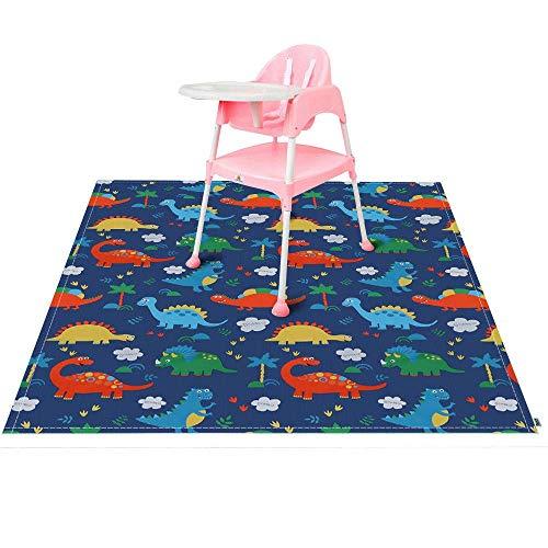 Baby Hochstuhl Teppich, Kinder Mahlzeit Bodenschutz, Schmutzschutz Unterlage Spritzschutzmatte Boden Füßmatte 140 x140cm (Fußmatten Hochstuhl)