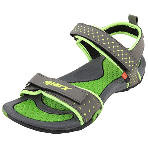 Sparx Women's SS0803L3 Series Dark Grey Fluorescent Green Synthetic Casual Floater Sandals 4UK  available at amazon for Rs.609