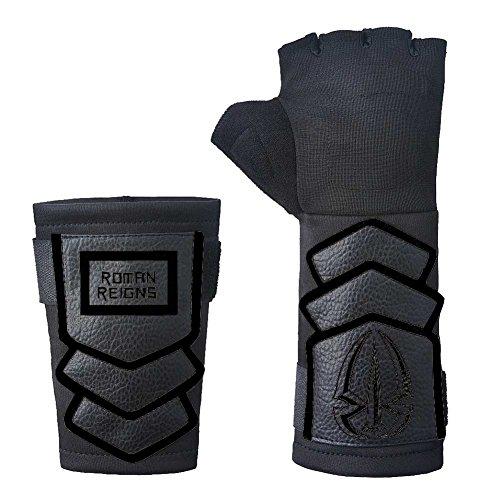 Roman Kostüm - Roman Reigns WWE Superman Punch Handschuh Armband Set - Schwarz, One size
