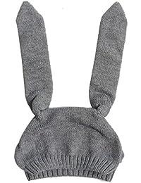 Babybekleidung Hüte & Mützen Longra Baby Kinder Mädchen Jungen gestrickt häkeln Kaninchen Ohr Beanie Warm Winter Hüte Mütze (8 Monate-2Jahre)
