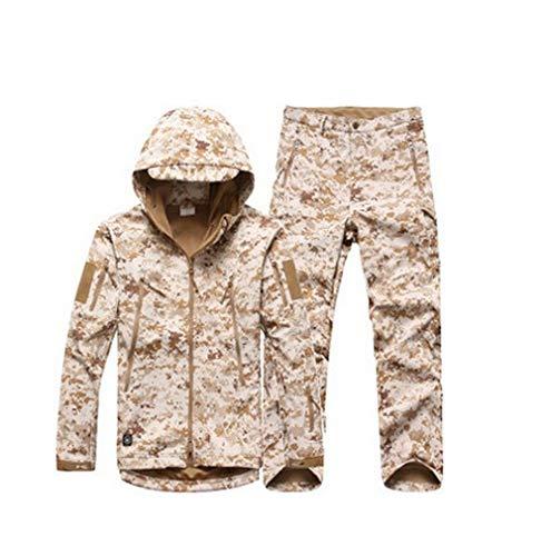 Winter-Mann-beiläufige Armee-Tarnung-Mantel-militärische Taktische Jacke und Mäntel imprägniern Winddichte Kleidung Picture Color S Wool Field Coat