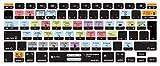 "MiNGFi Italia Italian OSX Scorciatoie Shortcuts Hot Keys Copritastiera silicone coperchio della tastiera per MacBook Pro 13"" 15"" 17"" Aluminum Unibody and MacBook Air 13"" Tastiera Apple Wireless Keyboard European/ISO Layout"