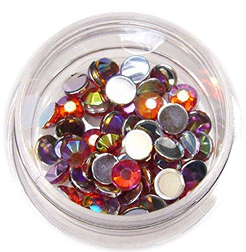 RM Beautynails avec 4 mm Orange ronde strass paillettes strass env. 50 pièces pour Nail Art et Manucure Design