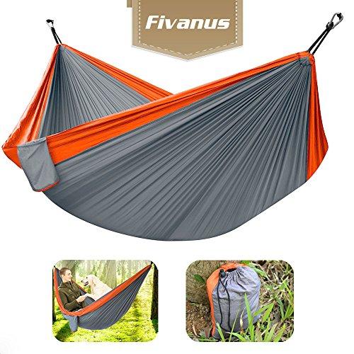 Hamacas al Aire Libre, Fivanus Hamaca de Viaje/camping Hamaca Portátil de Acampada.(Naranja...