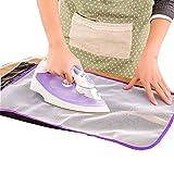OHQ MéNage Repassage Chiffon Anti-Chaud Pourpre 1X Planche à Repasser VêTements Polyester Polyester (Violet, 58cm*39.5cm)