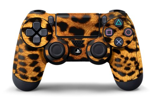 PS4 Controller Design Folie Aufkleber Sticker Skin fur Sony PlayStation 4 DualShock Wireless Controller - Leopard (Leopard Rebel)