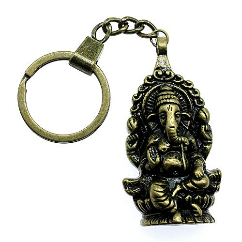WYSIWYG 3 Piezas Llavero Llaveros Mujer para Llaveros De Coche con Dijes. Ganesha Buda Elefante Colgantes 62x32mm