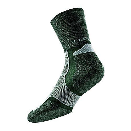 Thorlo Experia Merino Wolle/Seide xwxu Mannschafts Socken [Forest Grün] - Grün, Medium (Thorlo Merino Wolle)