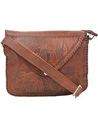 "Handcraft'S 'Eco"" Handmade Genuine Leather Eco-Friendly Cross Body Ladies Bag"