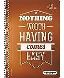 #2: Taj-White Spiral Notebook A5 (21 * 14.8 cm) - Single Line Pg 180