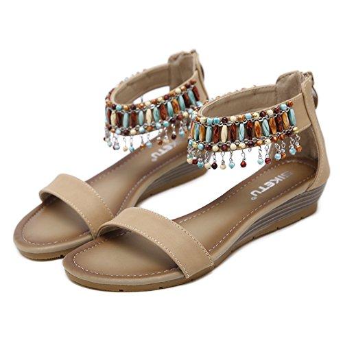 Ommda con Cinturino Alla Caviglia Donna Apricot (Beads)