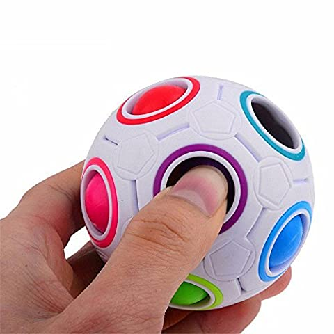 Stress Relief Toys, Rcool Creative Pop Rainbow Magic Ball Plastic Cube Twist Puzzle Toys Children Educational Toys Teenagers Adult Stress Reliever Toys Gift