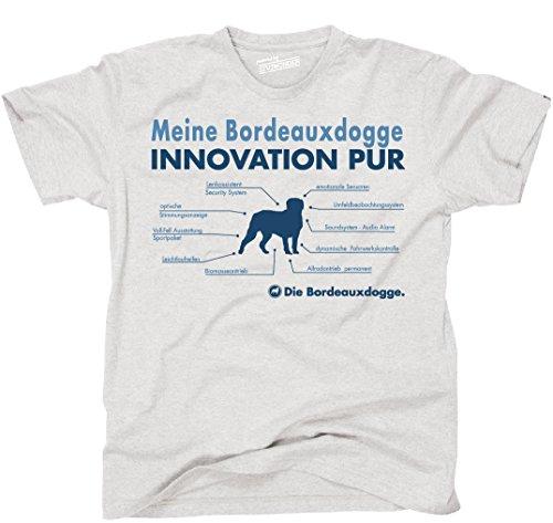 Siviwonder Unisex T-Shirt INNOVATION BORDEAUXDOGGE TEILE LISTE Hunde lustig fun Ash