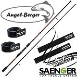 Sänger Sensitec Medium Light Spin 12-45g Spinnrute mit Angel Berger Rutenband (2,70m / 12-45g)