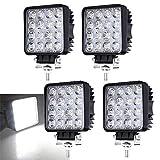 4 X 48W LED Offroad Scheinwerfer Weiß 12V 24V Arbeitsscheinwerfer SUV, UTV, ATV Flutlicht 6500K, 4320lm, Wasserdicht